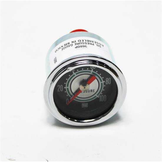 Garage Sale - Stewart Warner 360DP Green Line 2-1/16 Mechanical Oil Pressure Gauge