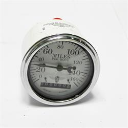 Garage Sale - Stewart Warner 82661 Wings Electric Speedometer, White