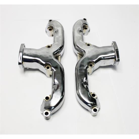 Garage Sale - Smoothie Rams Horn Exhaust Manifolds, Small Block Chevy, Chrome