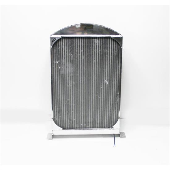 AFCO 1933-34 Ford Car Polished Aluminum Radiator, Chevy Engine, S