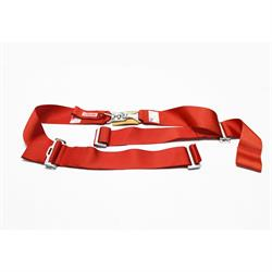 Garage Sale - Simpson Wrap-Around Lap Belts, Latch and Link, Pull-Up, Red