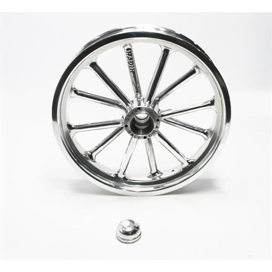 Garage Sale - Radir 18x3 Inch Spindle Mount Wheel, 1949-54 Chevy Spindles, Polished