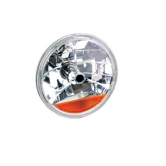 Garage Sale - Speedway Tri-Bar Replacement Headlight w/ Amber Turn Signal Lens