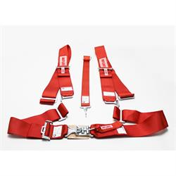 Garage Sale - Simpson 29075R Latch/Link Short Sew 5-Way Sprint Harness, Red
