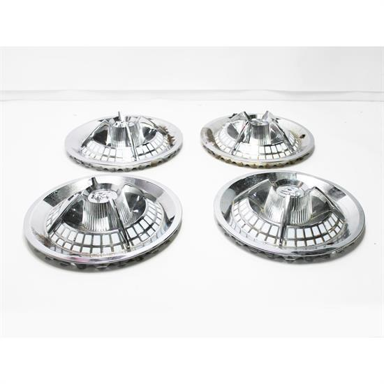 Garage Sale - 1959 Lancer Crab Style Hubcaps, 15 Inch, Chrome, Set of 4