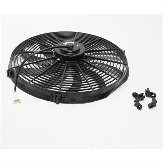 """14/"""" Universal Cooling Fan with Curved Blades 1750 cfm Chrome Plated Cage"""