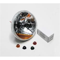 Garage Sale - Speedway Tri-Bar Replacement Headlights w/ Amber Turn Signal Lens