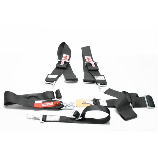 Garage Sale - Simpson 5 Point Harness, Latch & Link Sprint Car Safety Seat Belt, Black