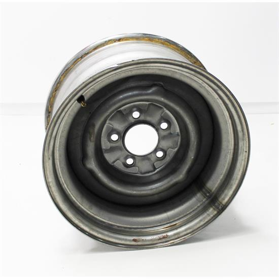 Garage Sale - Speedway O/E Style Hot Rod Raw Steel Wheel, 15x8, 5 on 4.5, 4.25 BS