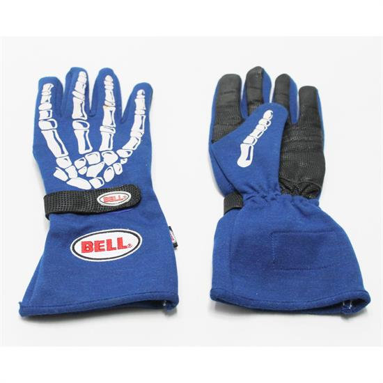 Garage Sale - Bell Skeleton Racing Gloves, Blue, XXL