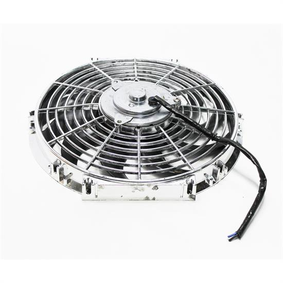 Garage Sale - Chrome Curved Blade Electric Fan, 12 Inch