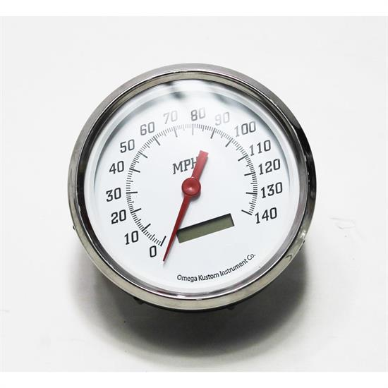 Garage Sale - Omega Kustom 1951-52 Ford Pickup Speedometer Gauge, Kool White, 4-3/8