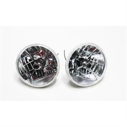 Garage Sale - Speedway 7 Inch Tri-Bar Headlights w/ Clear Turn Signal Lens