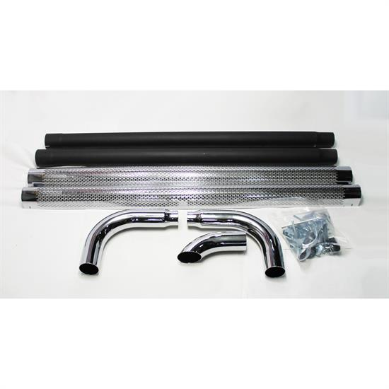 Garage Sale - Patriot Exhaust H1070 Chrome Side Pipes w/Mufflers, 70 Inch, PR