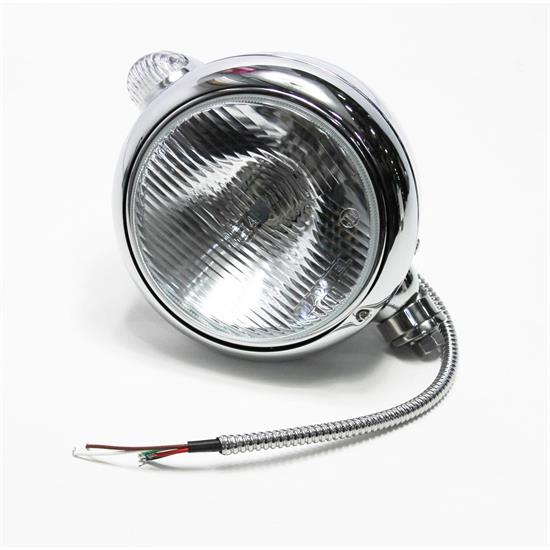 Garage Sale - Speedway Guide 682-C Style 12 Volt Headlight, Chrome