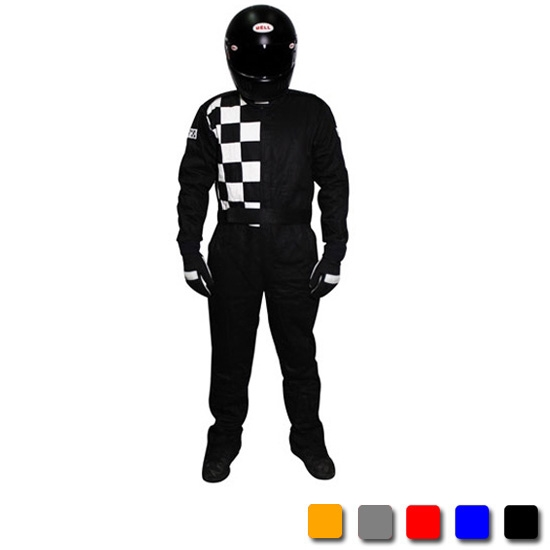 Garage Sale - Finishline One-Piece Double Layer Racing Suit SFI, Black, X-Large