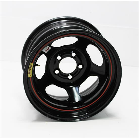 Garage Sale - Bassett 58DF3IL 15X8 D-Hole 5on4.5 3 Inch BS IMCA Black Beadlock Wheel