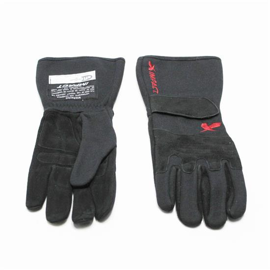 Garage Sale - 2013 Impact 34013 G4 Racing Gloves, Black/Red, Medium