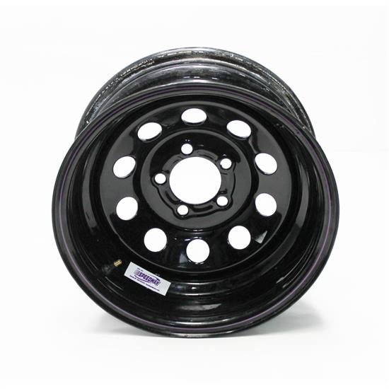Garage Sale - Black Circle Track 15 Inch Wheel, 15x7, 5 on 4-1/2, Non-Beadlock, 2 Inch Backspace