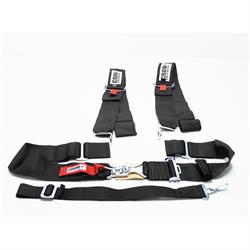 Garage Sale - Crow Sprint/Midget Racing 5-Point Seat Belt Wrap-Around Harness, Black