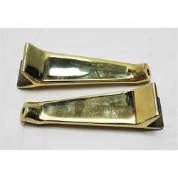 Garage Sale - Universal Brass Headlight Mounting Brackets, Polished
