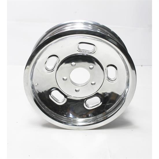 Garage Sale - Speedway Polished Alloy 15x4.5 Kidney Bean Gasser Wheel, 5 on 4.75 Inch