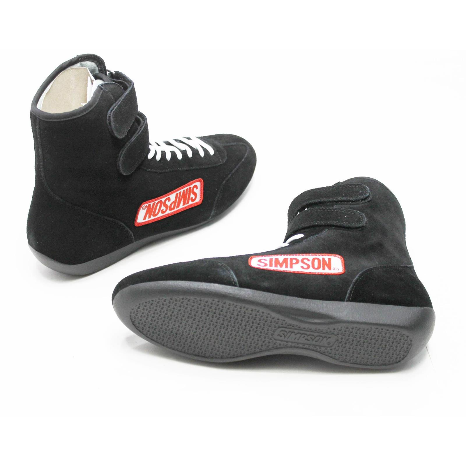 Simpson BK Suede Hightop Driving Shoes Black