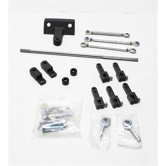 Weiand 4021 Carburetor Linkage Side-By-Side Square Bore Chevy