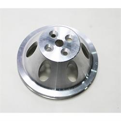 Small Block Chevy Aluminum Single Upper Pulley, Short Pump