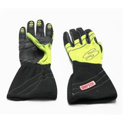Simpson HVMY Hi-Vis Racing Driver Gloves, Yellow, Medium