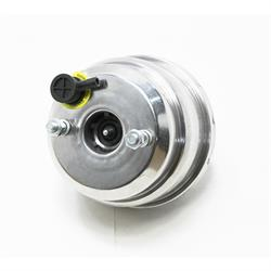 Speedway Dual Diaphragm Power Brake Booster, 7 Inch, Stainless St