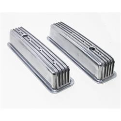 Mr Gasket 6856G Aluminum Finned Center Bolt Valve Covers, SBC