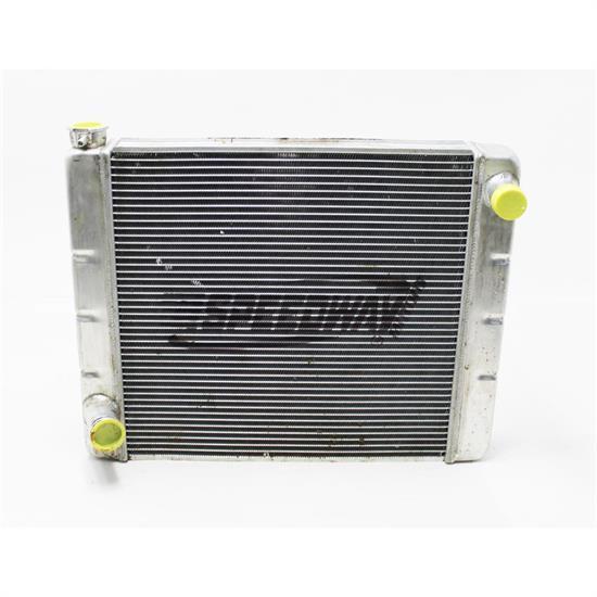 "19/""X22/"" Aluminum Crossflow Radiator High Performance Ford Mopar Inlet Outlet HD"