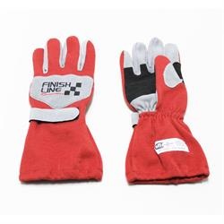 FinishLine Red Size XL Single Layer Driving Gloves, SFI 3.3/1