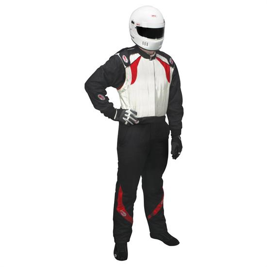 Bell Vision II Nomex Racing Suit XL, Black/White SFI 3.2A/5