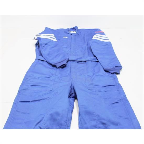 Simpson 404411 1-Piece, Double Layer Nomex Racing Suit, Blue, XL