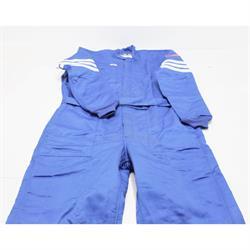 Simpson 404411 1-Piece, Double Layer Nomex Racing Suit, Blue, XL