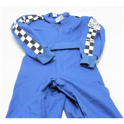 Finishline SFI-1 Qualifier 1-Piece Racing Suit, Blue Small