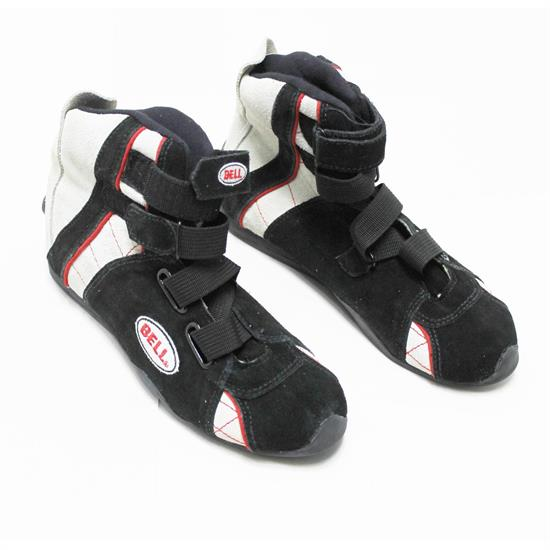 Bell Apex II SFI 3.3/5 Racing Shoes, Black/Red/White Size 7