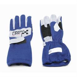FinishLine Blue Size Large Single Layer Driving Gloves, SFI 3.3/1