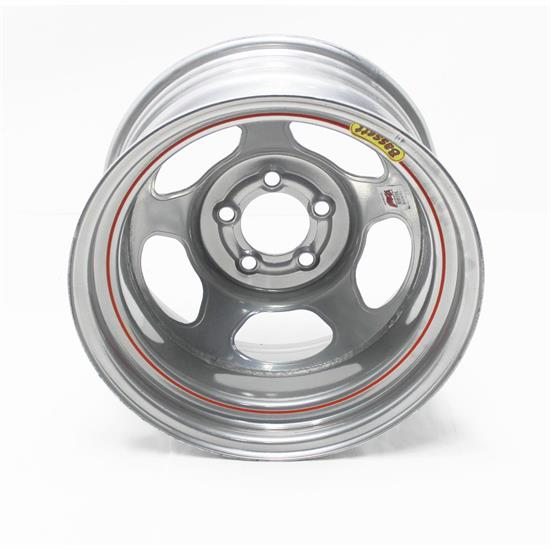 Bassett IMCA Certified 15 Inch Wheels, 15x8, 5 on 4-1/2, Non-Bead