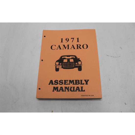 Garage Sale - 1971 Chevy Camaro Assembly Manual