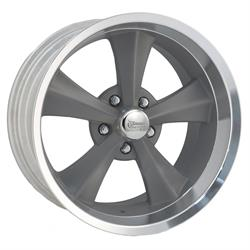 Rocket Racing R13-897352 Booster Gray 18x9 Wheel, 5 x 5, 5.25 BS