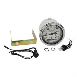 Stewart Warner 82661 Wings Electric Speedometer, White