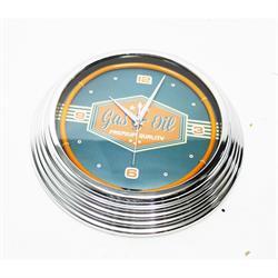 Gas & Oil Neon Clock