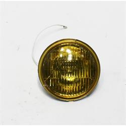 Replacement 12 Volt Vintage Style Fog Light Bulb, Amber Lens