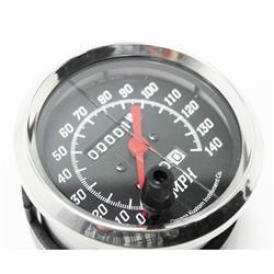 Omega Kustom Black Top 3-3/8, Mechanical Speedometer
