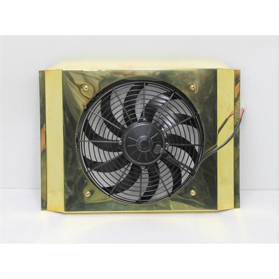 Garage Sale - Brass Fan and Shroud for T-Bucket Radiator