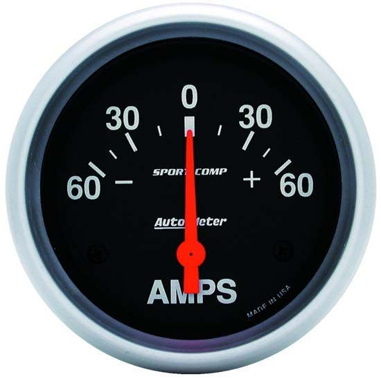 Auto Meter 3586 Sport-Comp Air-Core Ammeter Gauge, 60A, 2-5/8 In