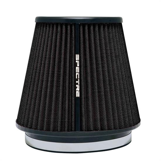 Spectre HPR9892K Conical Filter, Black, 7in Tall, Tapered Conical